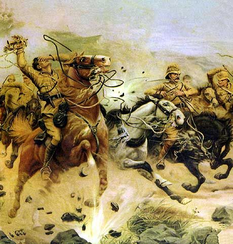 Attempting to save the guns at the Battle of Colenso on 15th December 1899…