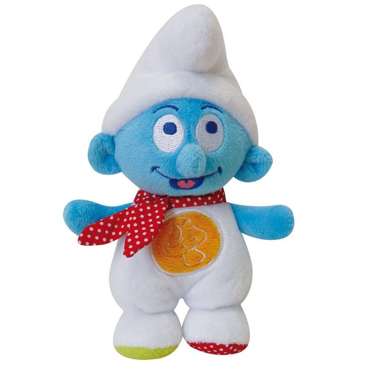 Smurfenknuffel speciaal voor baby, vrolijke kleurtjes en knuffelzacht!