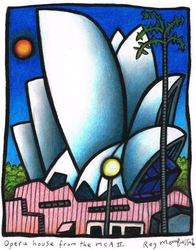 Opera House from MCA by Reg Mombassa