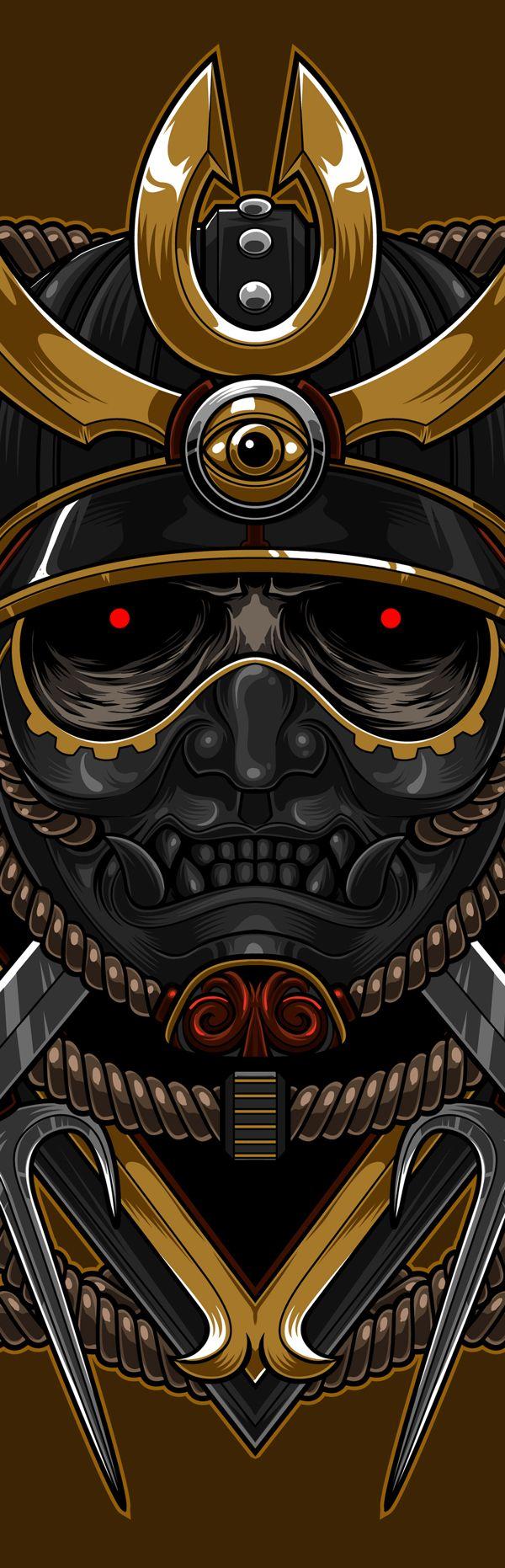 The Blackout Samurai by Charles AP, via Behance