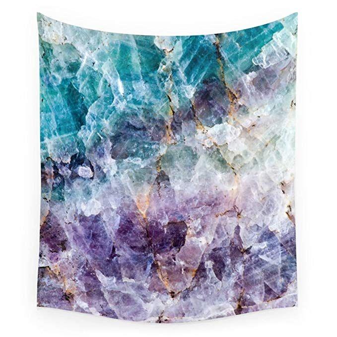 Society6 Turquoise & Purple Quartz Crystal Wall Tapestry ...Quartz Crystal Scam