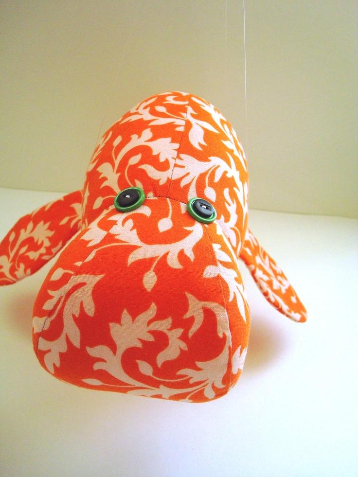 Tangerine Manatee by KittyKittyCrafts on Etsy