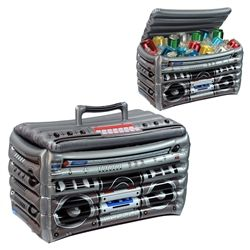 Inflatable Boombox Cooler is an awesome piece that can keep your drinks cold and also be an awesome decoration especially for an 80's party. #80sparty #partycheap