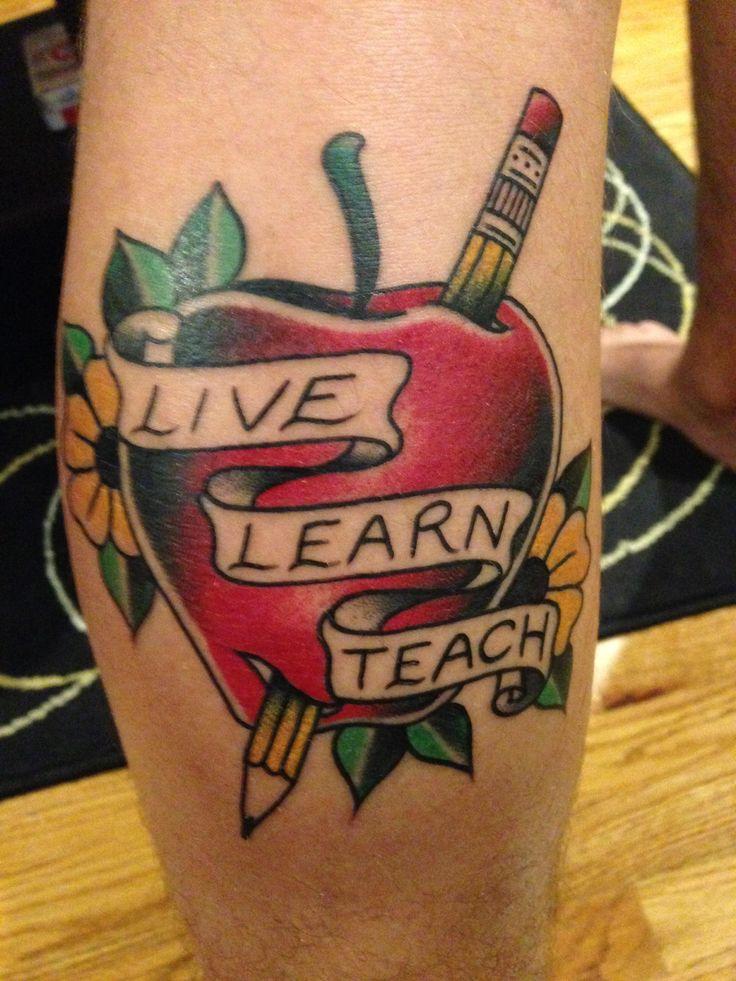 Teacher tattoo.