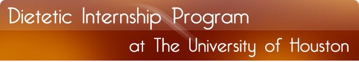 Dietetic Internship Program at The University of Houston
