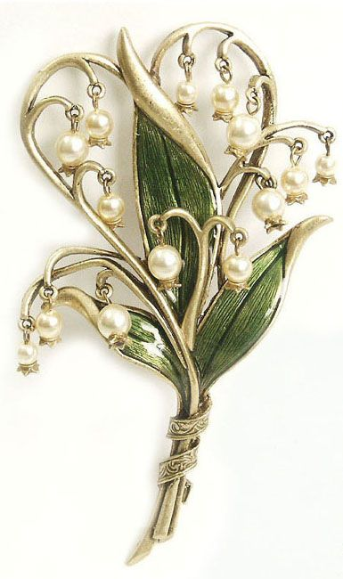 Fabriger(?) Lily of the Valley brooch. So beautiful.
