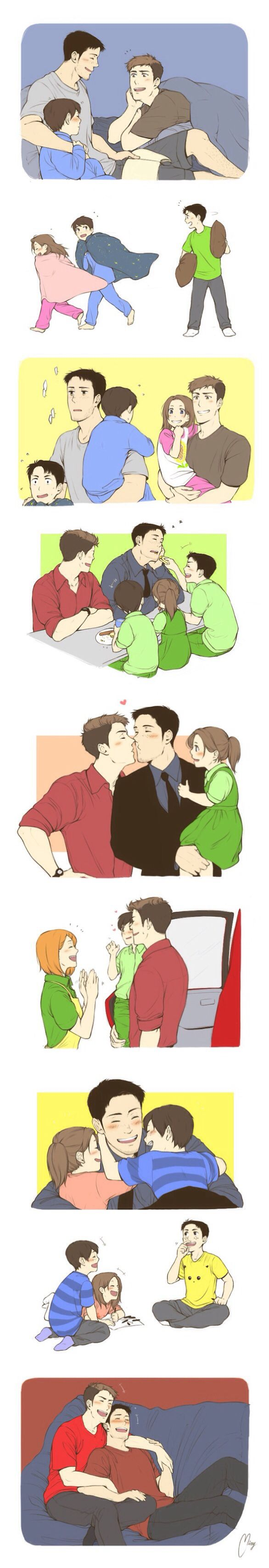 Attack on Titan ~~ Mature dads in love are terribly sweet. :: Jean and Marco