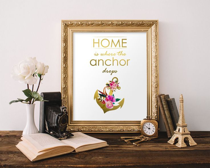 Wall Art Home Is Where The Anchor Drops Digital Print Home Is Where The Anchor Drops Poster Art Home Is Where The Anchor Drops Wall Art - Digital Download #homedecorations #wallprints #giftforhim #giftforher