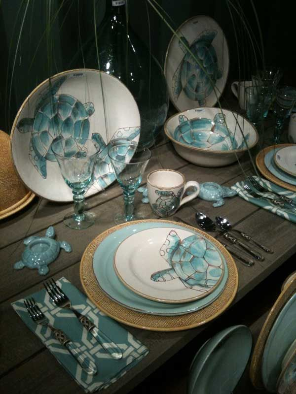 Vietri hand crafted Italian terra merrone dinnerware in a turquoise turtle pattern & 189 best Dishes images on Pinterest | Dishes Dish sets and Porcelain