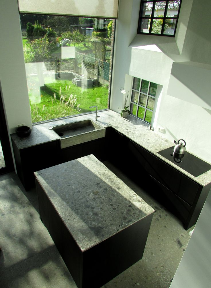 Kitchen - large window - ceppo by www.Sillae-Projects.be