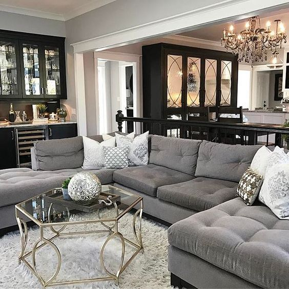 Captivating Dark Grey Living Room Furniture. The Chic Technique: Gray And Black Living  Dining Room