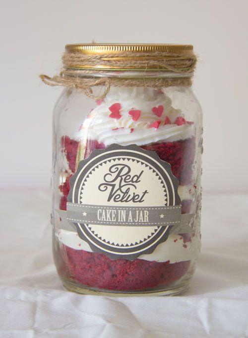 Oh Caro | DIY Lifestyle: DIY Red Velvet Cake in a Jar