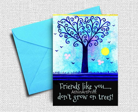 Printable Thank You Card Friends Card Just Because Card