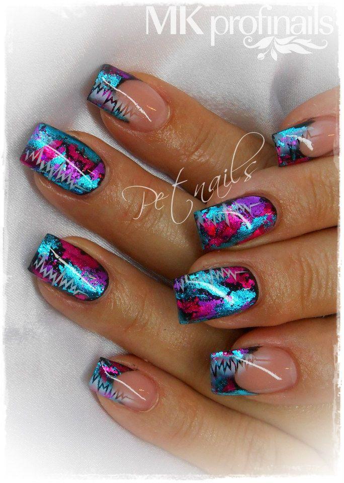25 gorgeous foil nail art ideas on pinterest foil nails foil nail designs and gold acrylic nails - Foil nail art ...