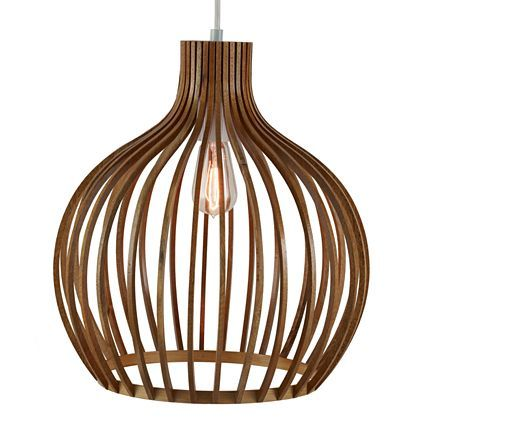 Pendant Ceiling Light with Round Wood Shade - jcpenney