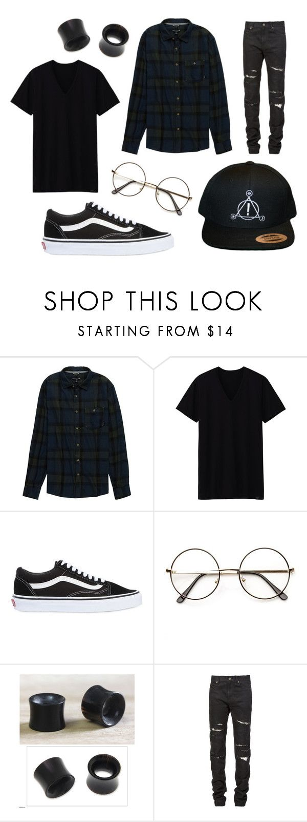 """Untitled #49"" by rainbowfiend on Polyvore featuring Ocean Current, Uniqlo, Vans, NOVICA and Yves Saint Laurent"