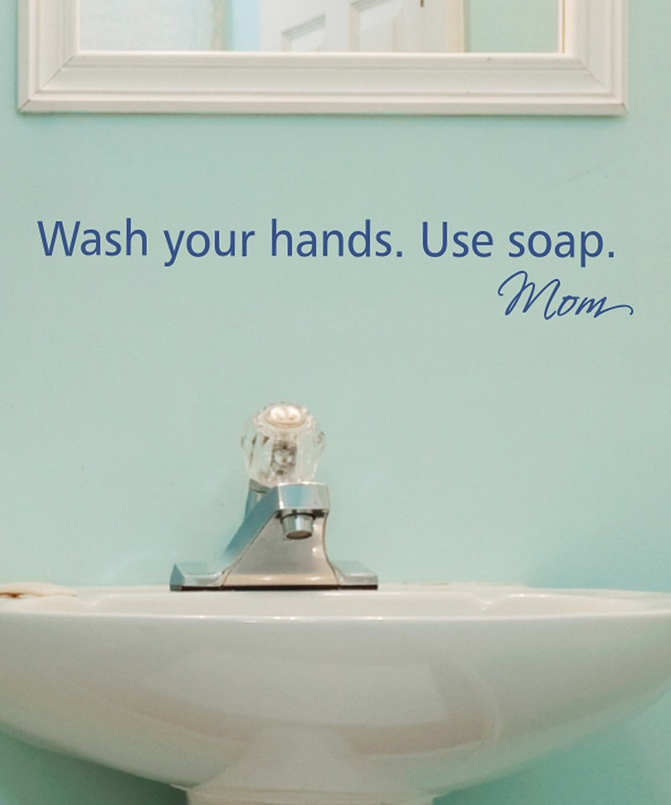 Simple, yes, but did you ever notice how many people do not wash their hands after using the bathroom? This would be great for the half-bath the kids use when going in and out of the house all day.