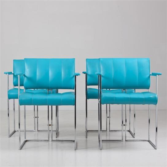 Turquoise Vinyl Chairs