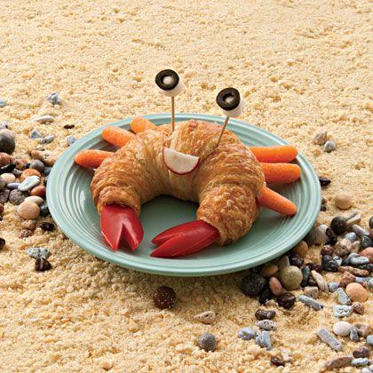 "Adorable ""Crab Croissant"" using #croissants #carrots & #strawberries!"