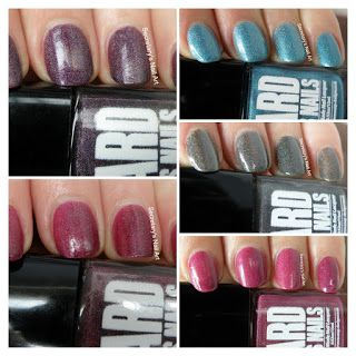 Secretary`s Nail Art: 'Ard As Nails - The Bookouture Girls Collection Live Swatches  #secretarysnailart #ardasnails #swatch #swatches #ukpolish #indiepolish