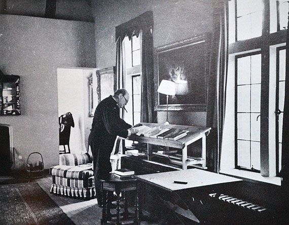 Winston Churchill and his Standing Desk: Churchill used a standing desk in his home study all his life and lived into his 90s, even though he smoked 10 cigars/day. #Desk #Standing_Desk