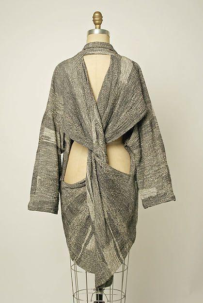 #2  Jacket, c.1983. Back. Designer: Comme des Garçons (Japanese, founded 1969) Japanese cotton
