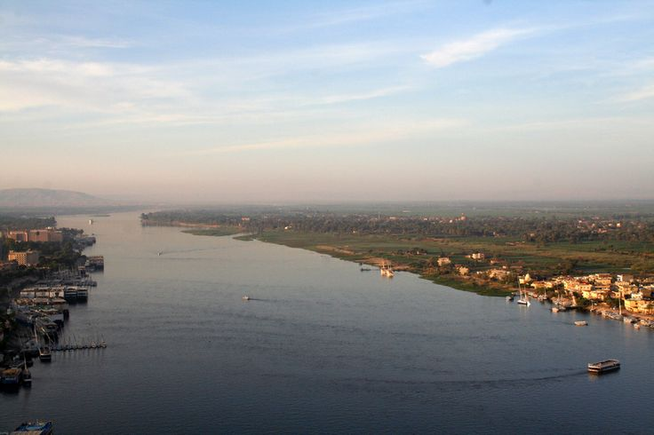 Εναέρια όψη του ποταμού Νείλου