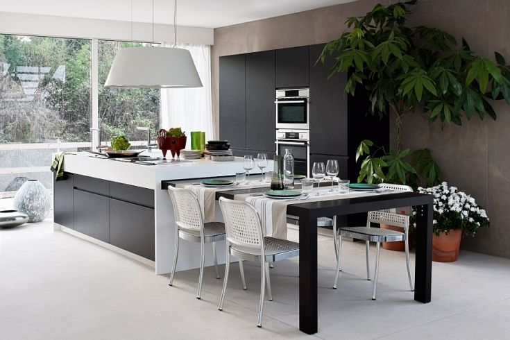 Lovely Expandable Kitchen Island With Images Kitchen Island Dining Table Modern Kitchen Island Dining Table In Kitchen