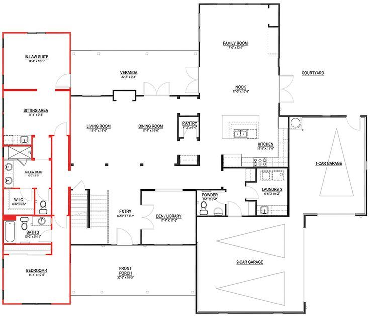 14 best mother in law suites images on pinterest guest for In law floor plans