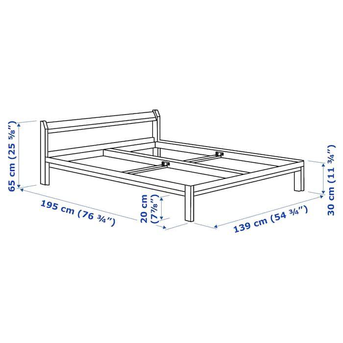 Neiden Bed Frame Pine Full Ikea In 2020 Bed Frame Pine Bed Frame Ikea