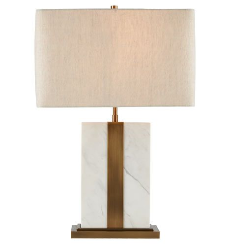 Monolithic Table Lamp - Marble & Aged Brass