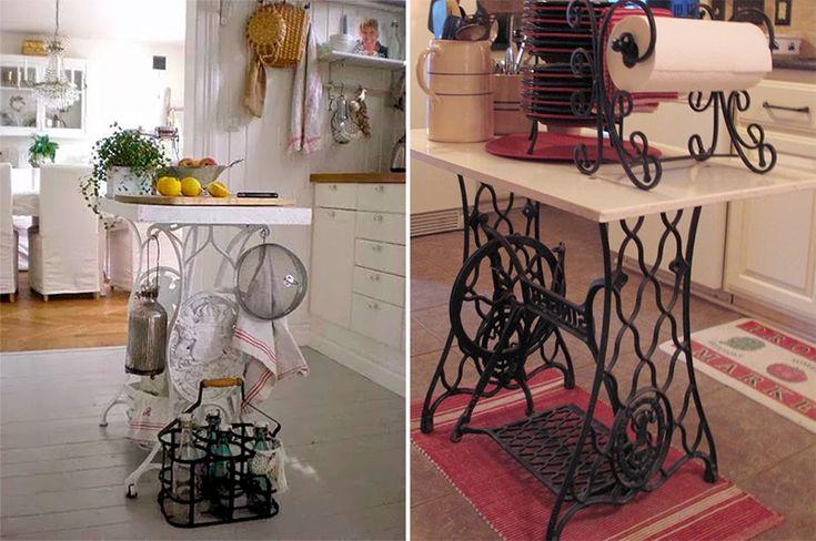 10 maneiras de reaproveitar o pé da máquina de costura na decoração - Casinha Arrumada