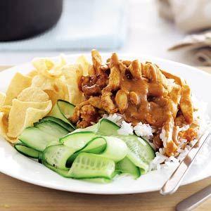 Hete kip met komkommersalade