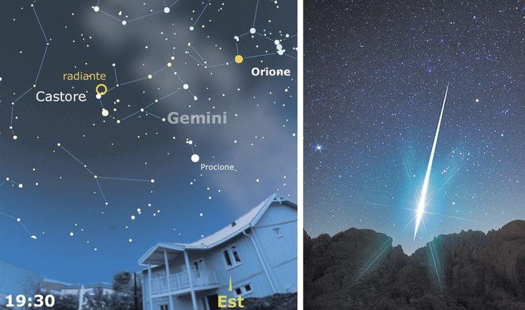 """Arrivano le #Geminidi2015, le meteore più brillanti e """"lente"""" del nostro cielo!  Picco previsto per la sera del 14 dicembre, al link un po' di storia e tanti consigli. http://ow.ly/VKQ9D   #stellecadenti Crediti immagine: Coelum Astronomia"""