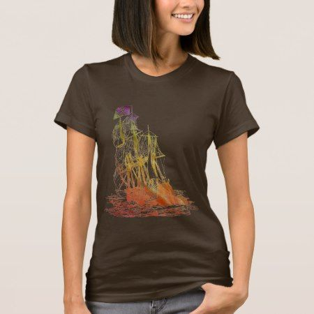 Womens Rainbow Pirate Ship T-Shirt - click to get yours right now!