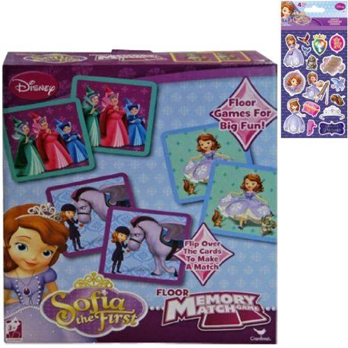 Disney Princess Sofia The First Floor Memory Match Game Gift Set for Kids - Sofia The First 54 Card  @ niftywarehouse.com #NiftyWarehouse #Disney #DisneyMovies #Animated #Film #DisneyFilms #DisneyCartoons #Kids #Cartoons