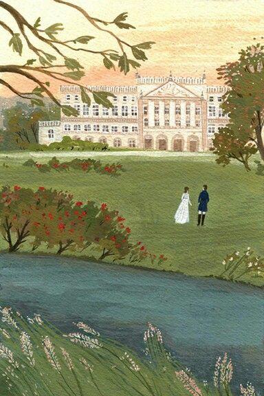 Mr. Darcy     becca stadtlander     elizabeth bennet     illustration     jane austen     pride and prejudice
