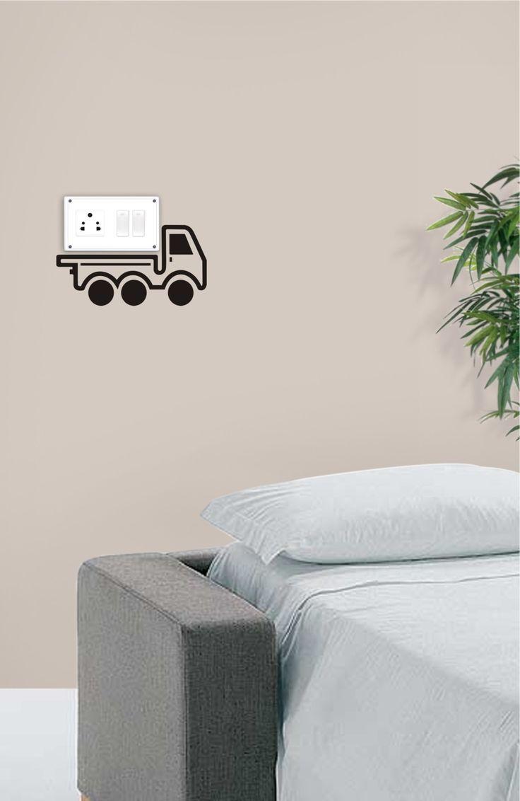 this cargo van will take away your switchboard with it d just kidding cargo vansticker designwall - Wall Sticker Design Ideas