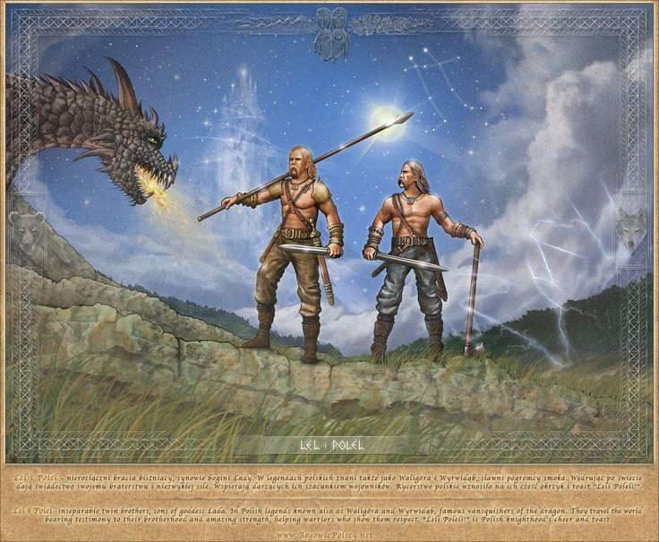 Lel i Polel, twin brothers, sons of goddess Łada