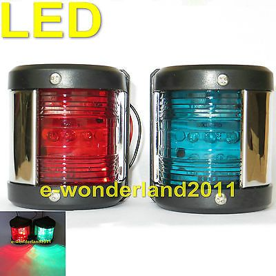 Marine Boat Green Starboard And Red Port Side  LED Navigation Light One Pair 12V