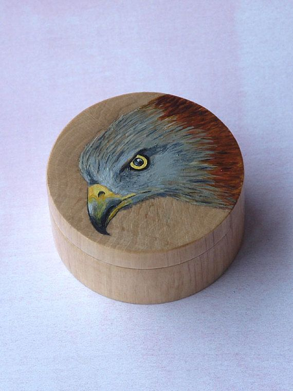Bird Ring Box RED KITE Ring Box Bird by HandmadeEarringsUk on Etsy