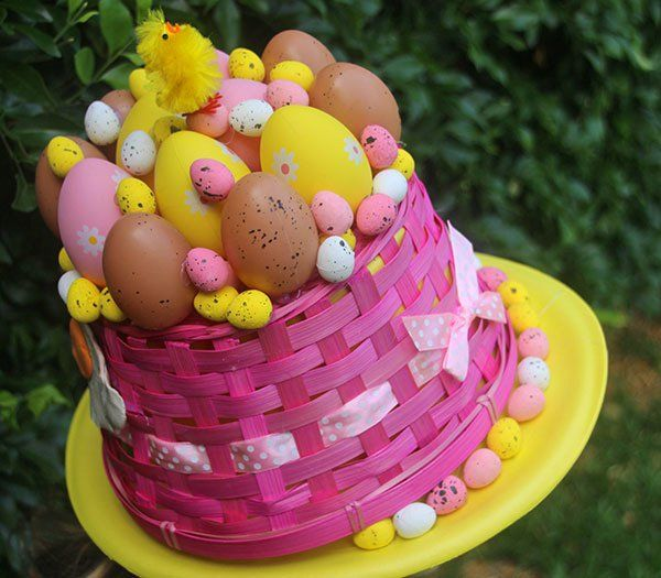 Easter Hat Parade Ideas: Basket of Eggs Hat