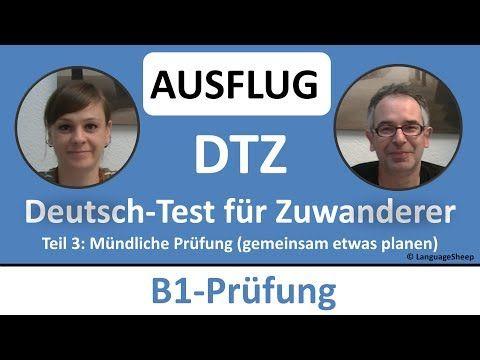 Deutsch lernen: B1-Prüfung (DTZ) -- mündliche Prüfung -- (AUSFLUG) gemeinsam etwas planen - YouTube
