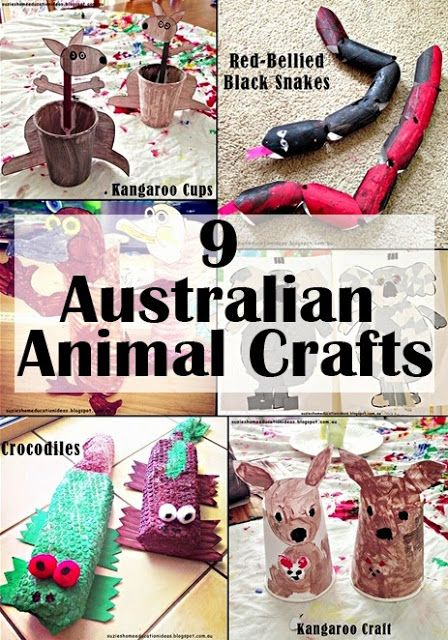 9 Australian Animal Craft ideas with printable instructions and links from Suzie's Home Education Ideas