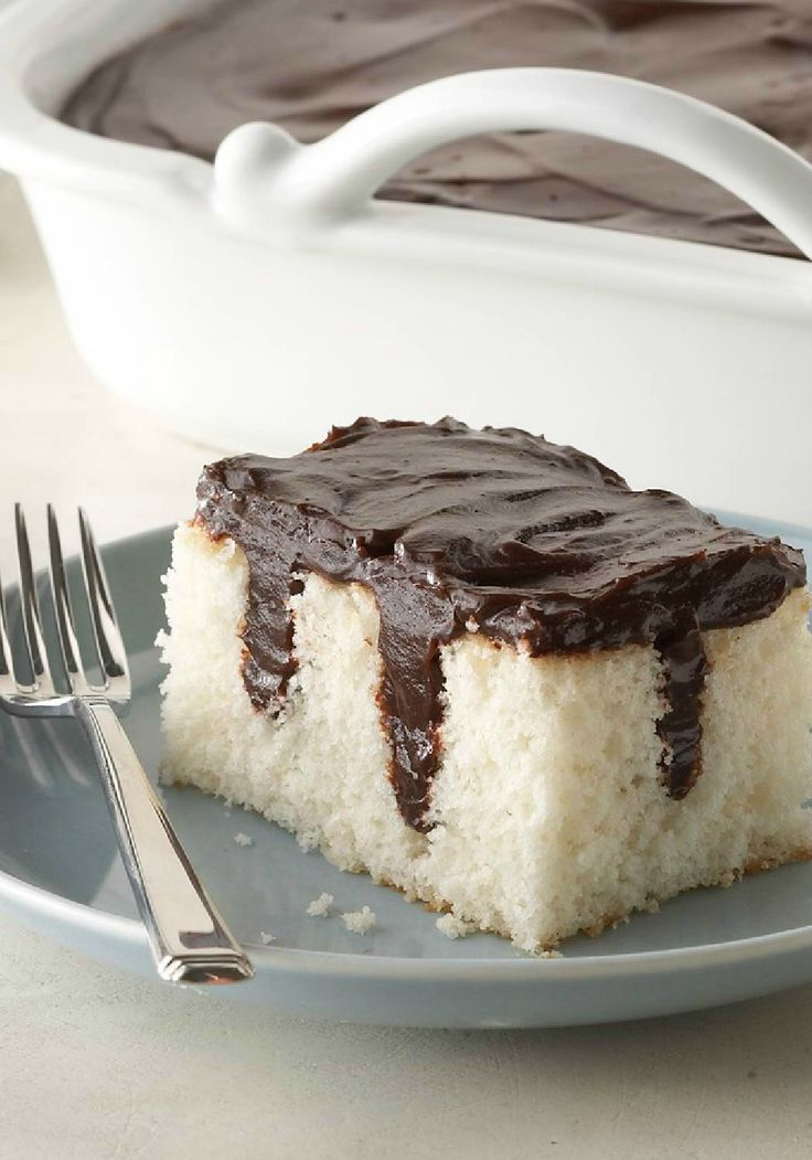 Chocolate Pudding Poke Cake – What's better than chocolate pudding on top of a cake? How about chocolate pudding inside the cake—and the fact that it's a Healthy Living dessert recipe?