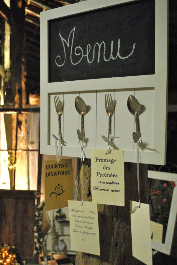 decoration de table mariage vintage retro menu