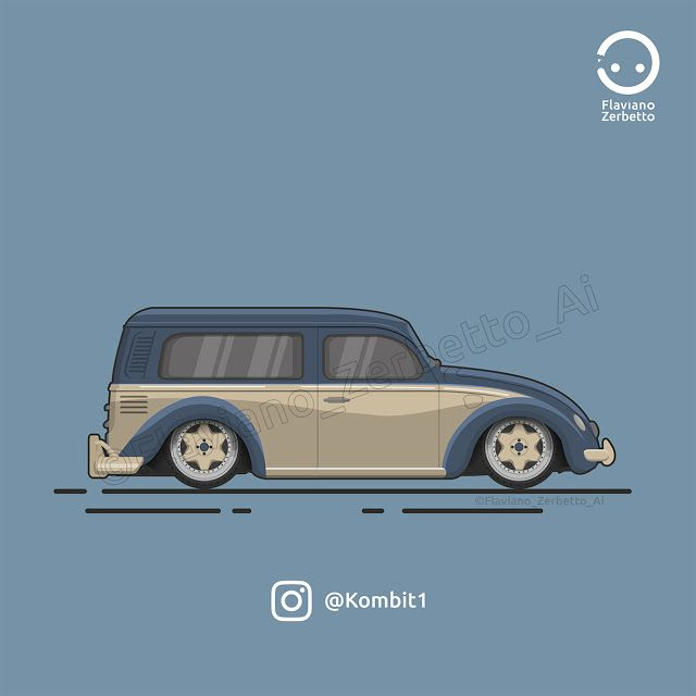 Beetle Van Log Flat Design