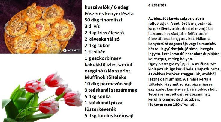 Sajtos muffin fűszeres kenyértésztából recept