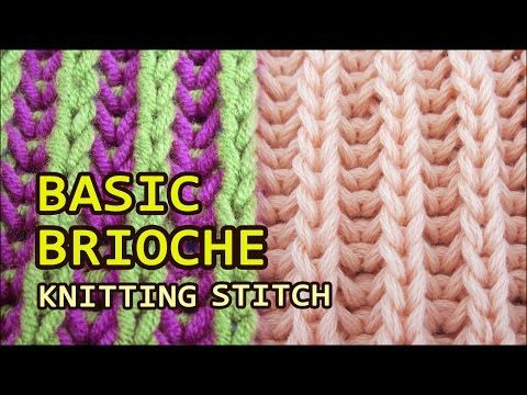 knittingcentral: Brioche Knitting - One Color & Two Colors Want to create a ribbed pattern, but with a little more stretch, flair and also reversible? Try the brioche stitch. This video demonstrates both the one-color and …883 Tags: