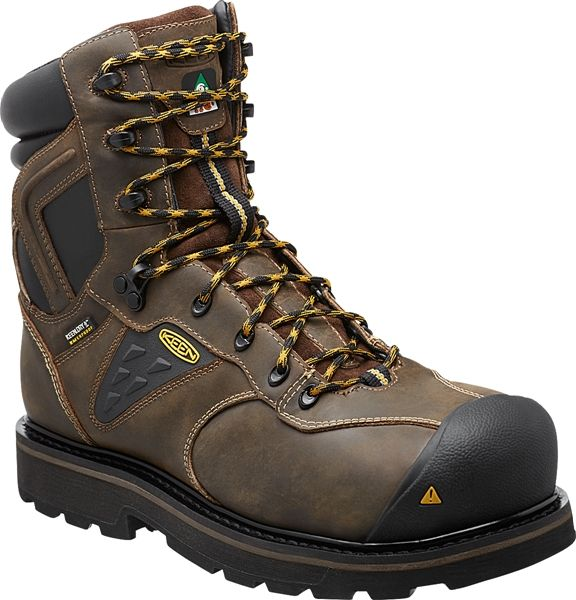 KEEN Men's Tacoma XT CSA. Slip resistant, barnyard-proof, puncture-resistant, and safe for electrical work. Metal free with a composite toe.